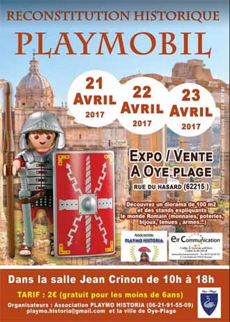 Exposition Playmobil Oye Plage > les 20 21 22 avril 2018