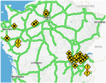 Cliquez pour afficher les prévisions trafic Bison Futé