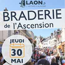 Braderie de l'Ascension Laon - le 30 mai 2019