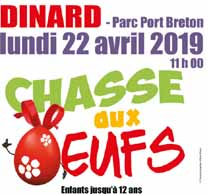 Chasse aux oeufs Dinard - le lundi 22 avril 2019