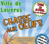 Chasse aux oeufs Louvres - dimanche 21 avril 2019