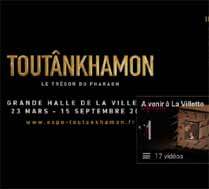 Exposition Toutânkhamon - Halle de la Villette Paris