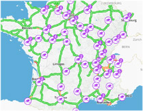webcams trafic autoroutes France