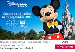 Vente Privée Disneyland Paris été  2018 Hôtels Disneyland Paris